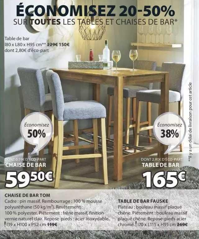 JYSK Chaise De Bar Tom, Table De Bar Fauske