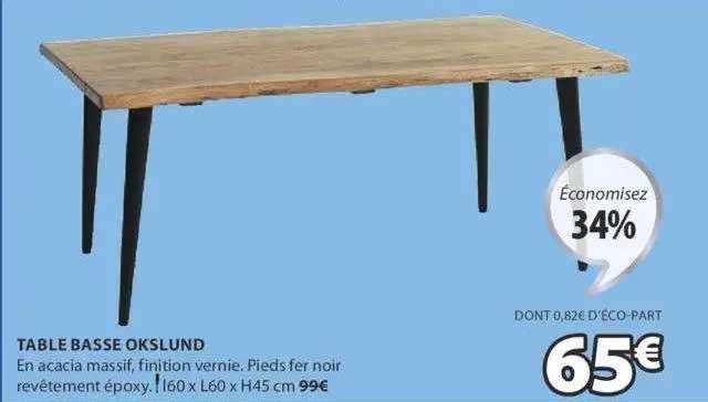 JYSK Table Basse Okslund