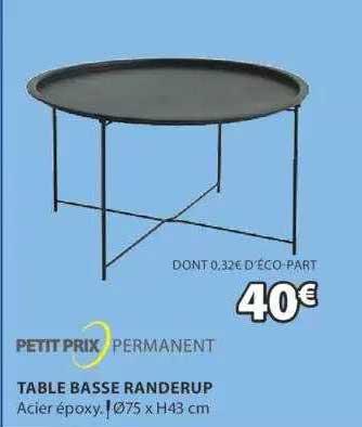 JYSK Table Basse Randerup