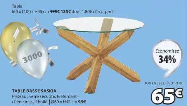 JYSK Table Basse Saskia