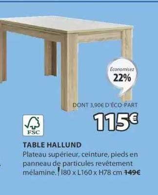 JYSK Table Hallund