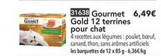 Toupargel Gourmet Gold 12 Terrines Pour Chat