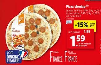 Offre Pizza Chorizo chez Lidl