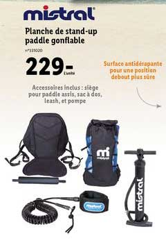 Lidl Planche De Stand Up Paddle Gonflable Mistral