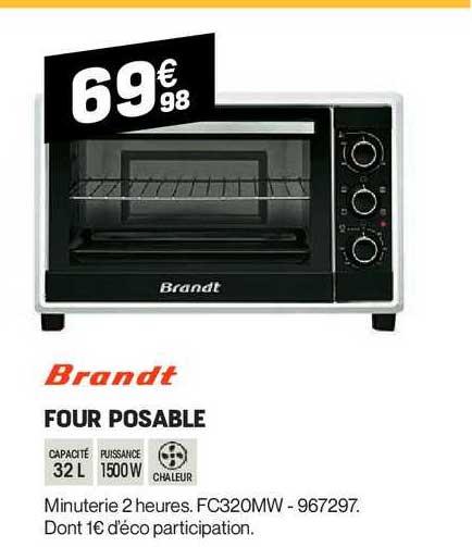 Offre Four Posable Brandt Chez Electro Depot