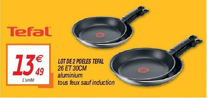 Netto Lot De 2 Poêles Tefal
