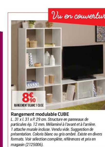 Offre Rangement Modulable Cube Chez Bricorama