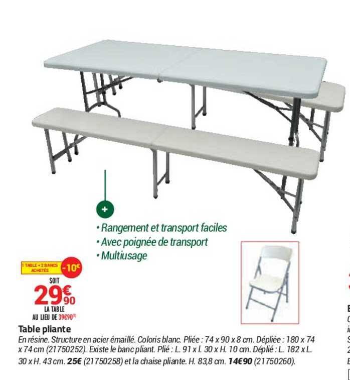 Bricorama Table Pliante