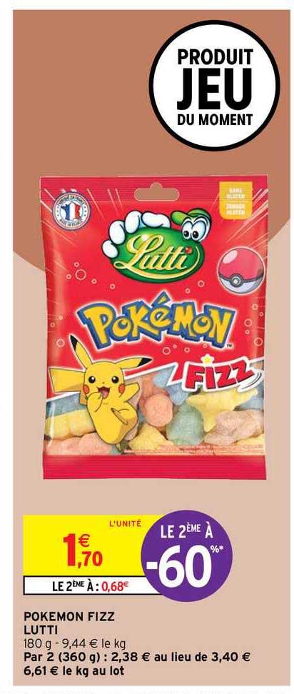 Intermarché Contact Pokemon Fizz Lutti