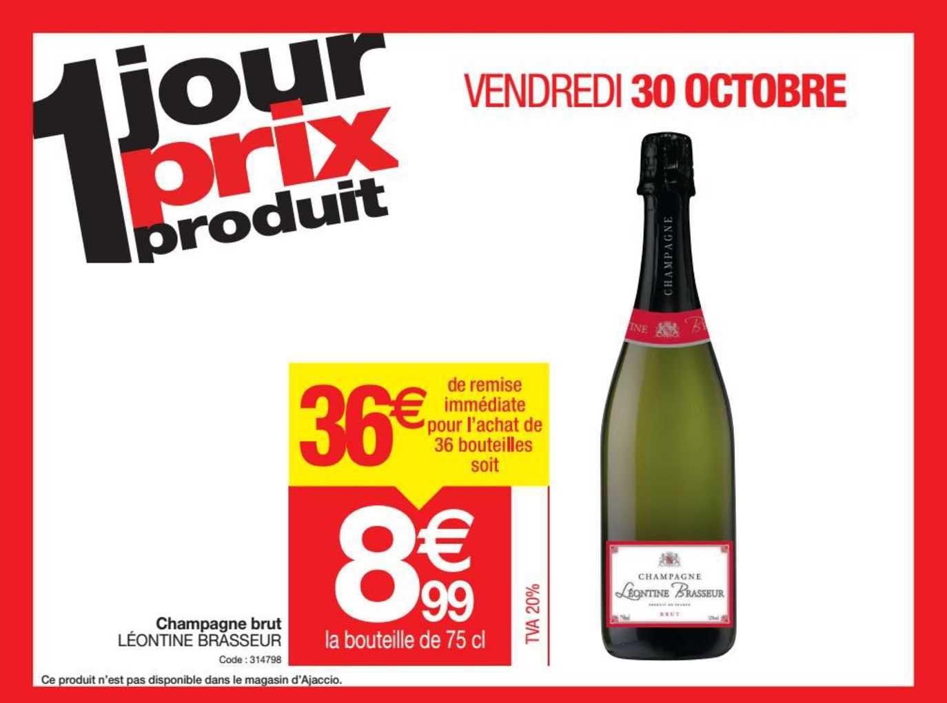 Promocash Champagne Brut Léontine Brasseur