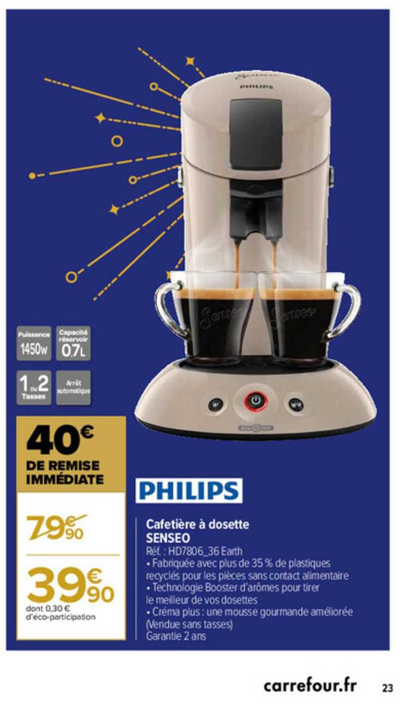 Offre Cafetiere A Dosette Senseo Chez Carrefour