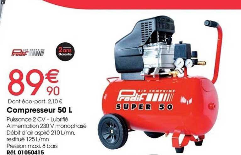 Brico Pro Compresseur 50 L Predif Air Comprimé