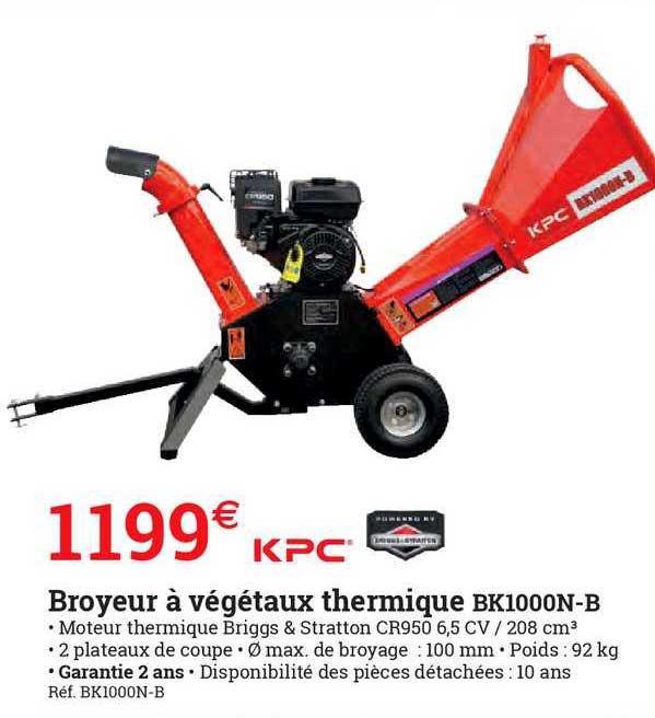 ESPACE EMERAUDE Broyeur à Végétaux Thermique Kpc