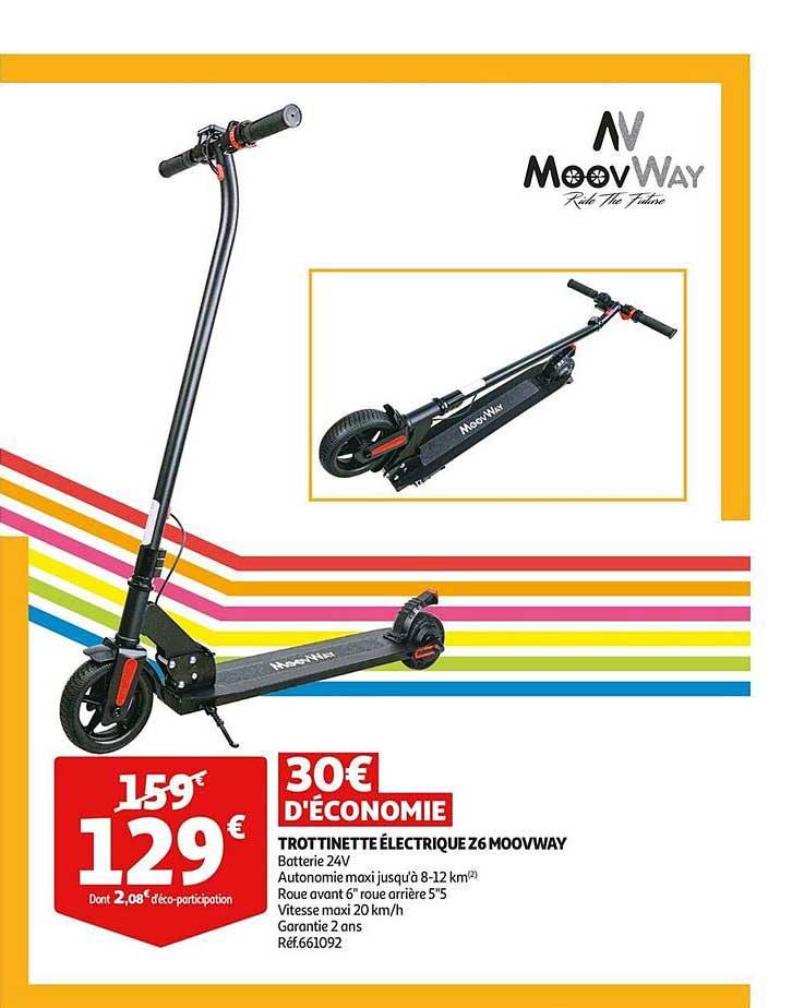 Auchan Trottinette électrique Z6 Moovway