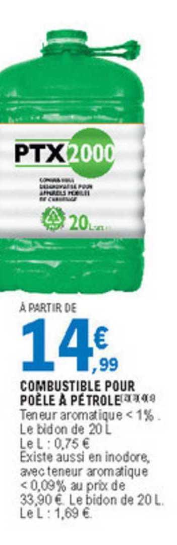 E.Leclerc Combustible Pour Poêle à Pétrole