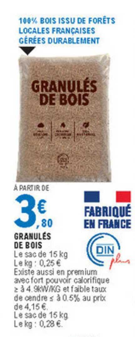 E.Leclerc Granulés De Bois