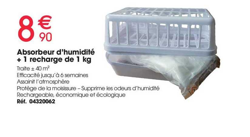 Brico Pro Absorbeur D'humidité + 1 Recharge De 1 Kg
