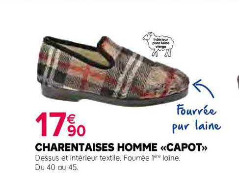 Kiriel Charentaises Homme «capot»
