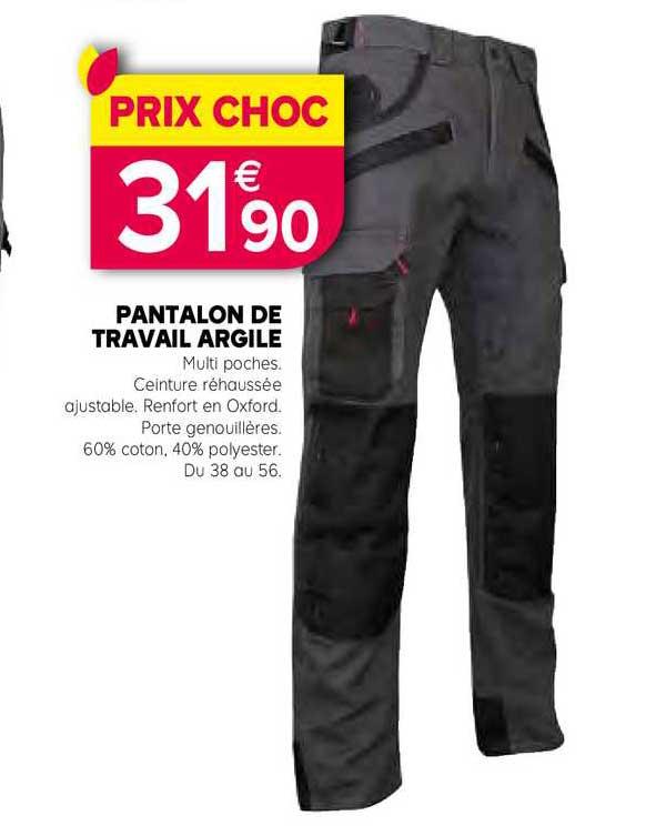 Kiriel Pantalon De Travail Argile