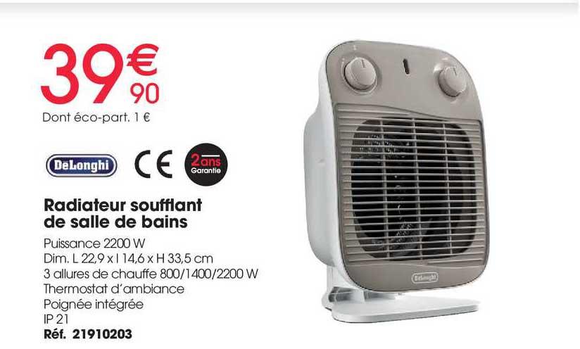 Brico Pro Radiateur Soufflant De Salle De Bains Delonghi