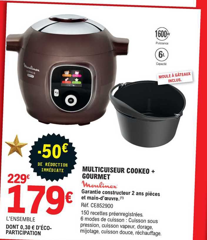 E.Leclerc Multicuiseur Cookeo + Gourmet