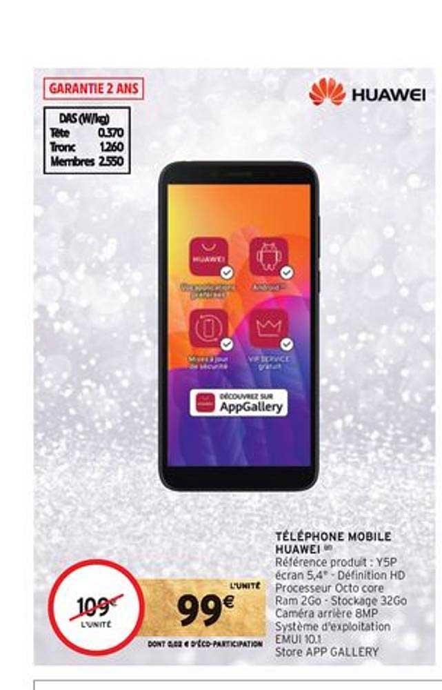 Intermarché Téléphone Mobile Huawei