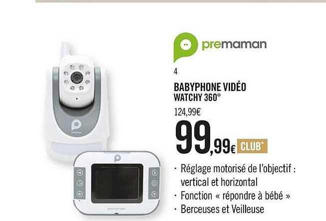 Orchestra Babyphone Vidéo Watchy 360° Premaman