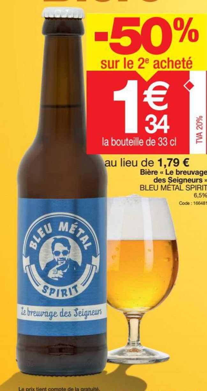 Promocash Bière «le Breuvage Des Seigneurs» Bleu Metal Spirit