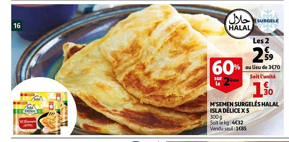 Auchan M'semen Surgelés Halal Isla Délices X5