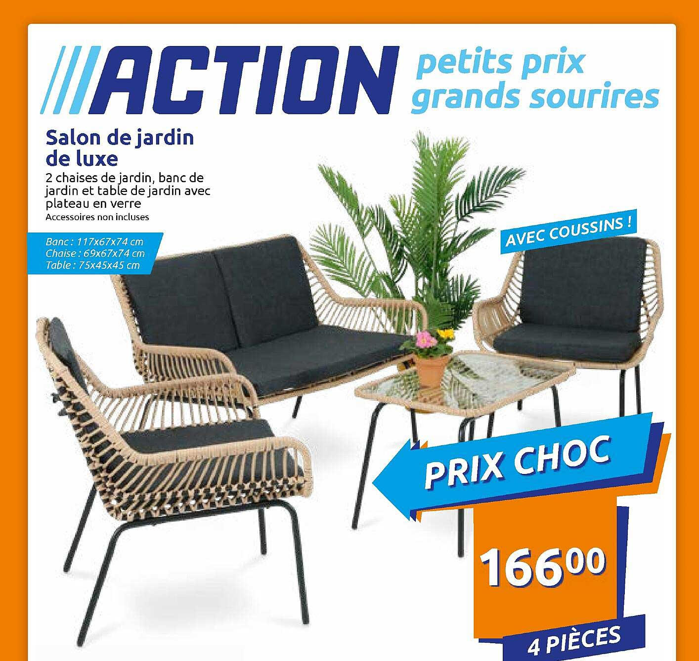 Action Salon De Jardin De Luxe