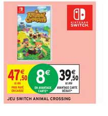 Intermarché Jeu Switch Animal Crossing
