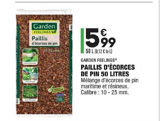 Aldi Paillis D'écorces De Pin 50 Litres Garden Feelings