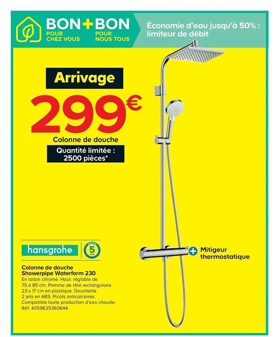 Castorama Colonne De Douche Showerpipe Waterform 230 Hansgrohe