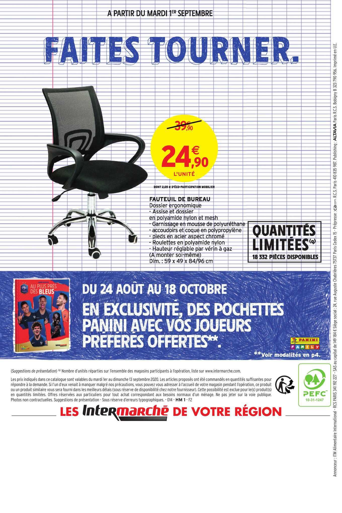 Intermarché Hyper Fauteuil De Bureau