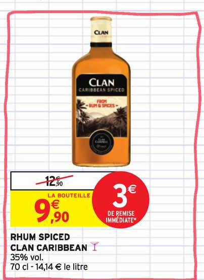 Intermarché Contact Rhum Spiced Clan Caribbean