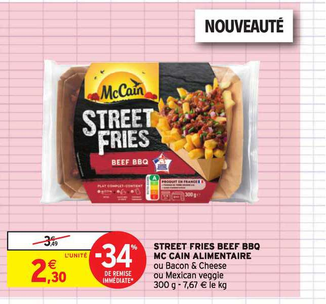 Intermarché Contact Street Fries Beef Bbq Mc Cain -34% De Remise Immédiate