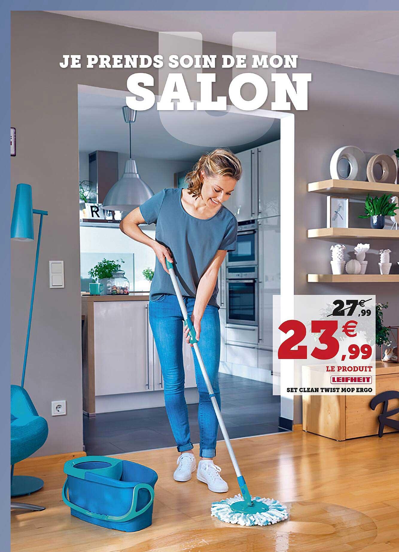 Super U Set Clean Twist Mop Ergo Leifheit