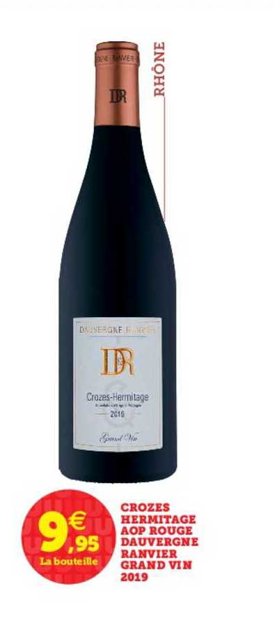 U Express Crozes Hermitage Aop Rouge Dauvergne Ranvier Grand Vin 2019