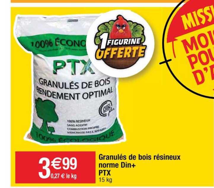 Cora Granulés De Bois Résineux Norme Din+ Ptx