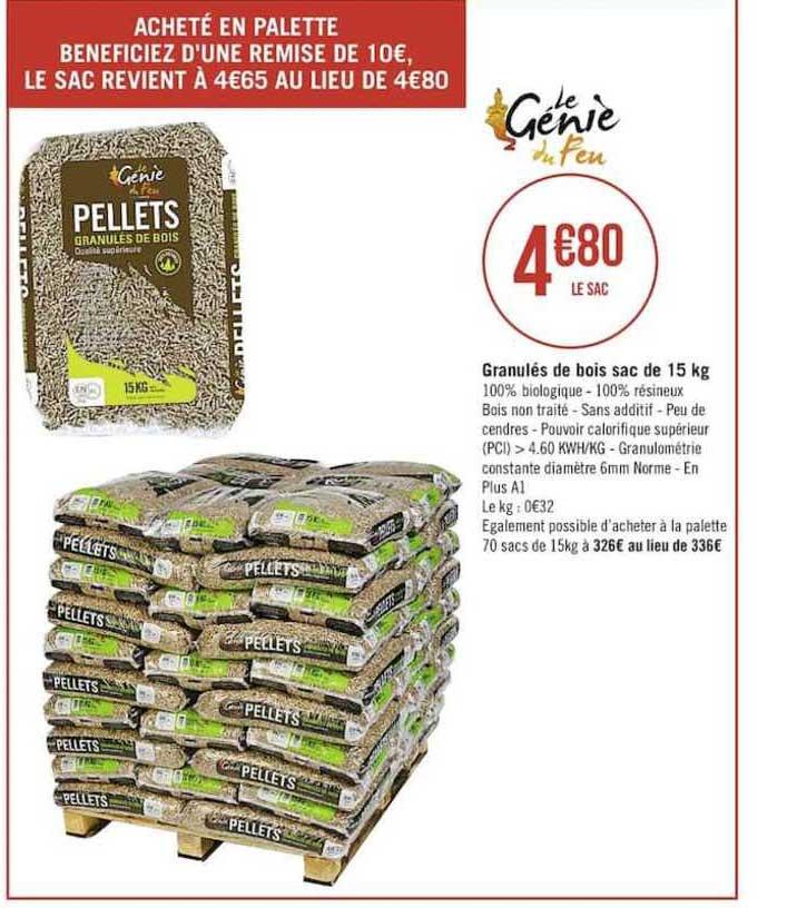Casino Supermarchés Granulés De Bois Sac De 15 Kg