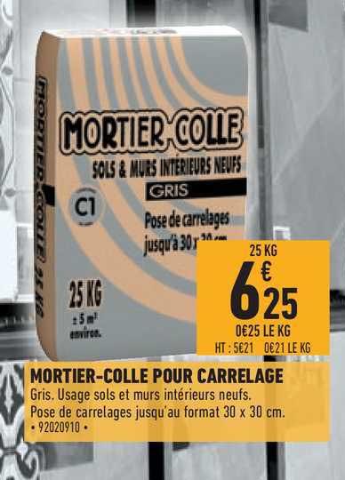 Offre Mortier Colle Pour Carrelage Chez Brico Cash