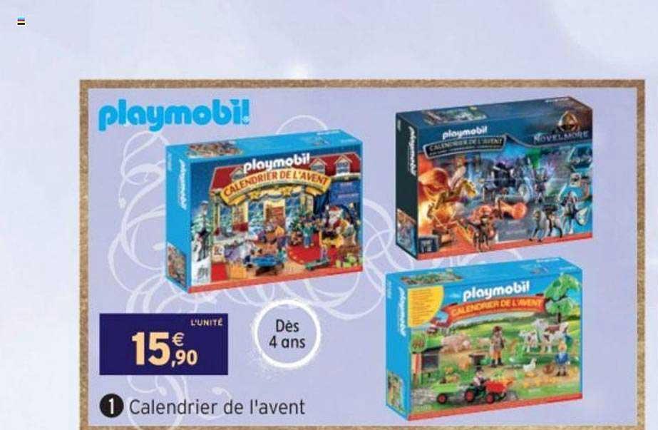 Calendrier De Lavent Playmobil 2022 Offre Calendrier De L'avent Playmobil chez Intermarche