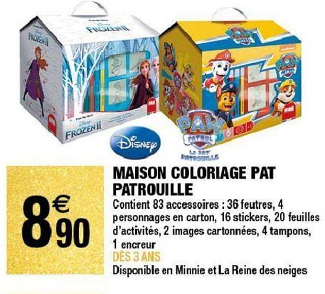 Offre Disney Maison Coloriage Pat Patrouille Chez Carrefour Market