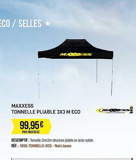 Offre Maxxess Tonnelle Pliable 2x2 M Eco Chez Maxxess