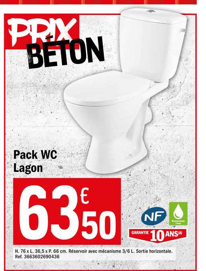 Offre Pack Wc Lagon Chez Brico Depot