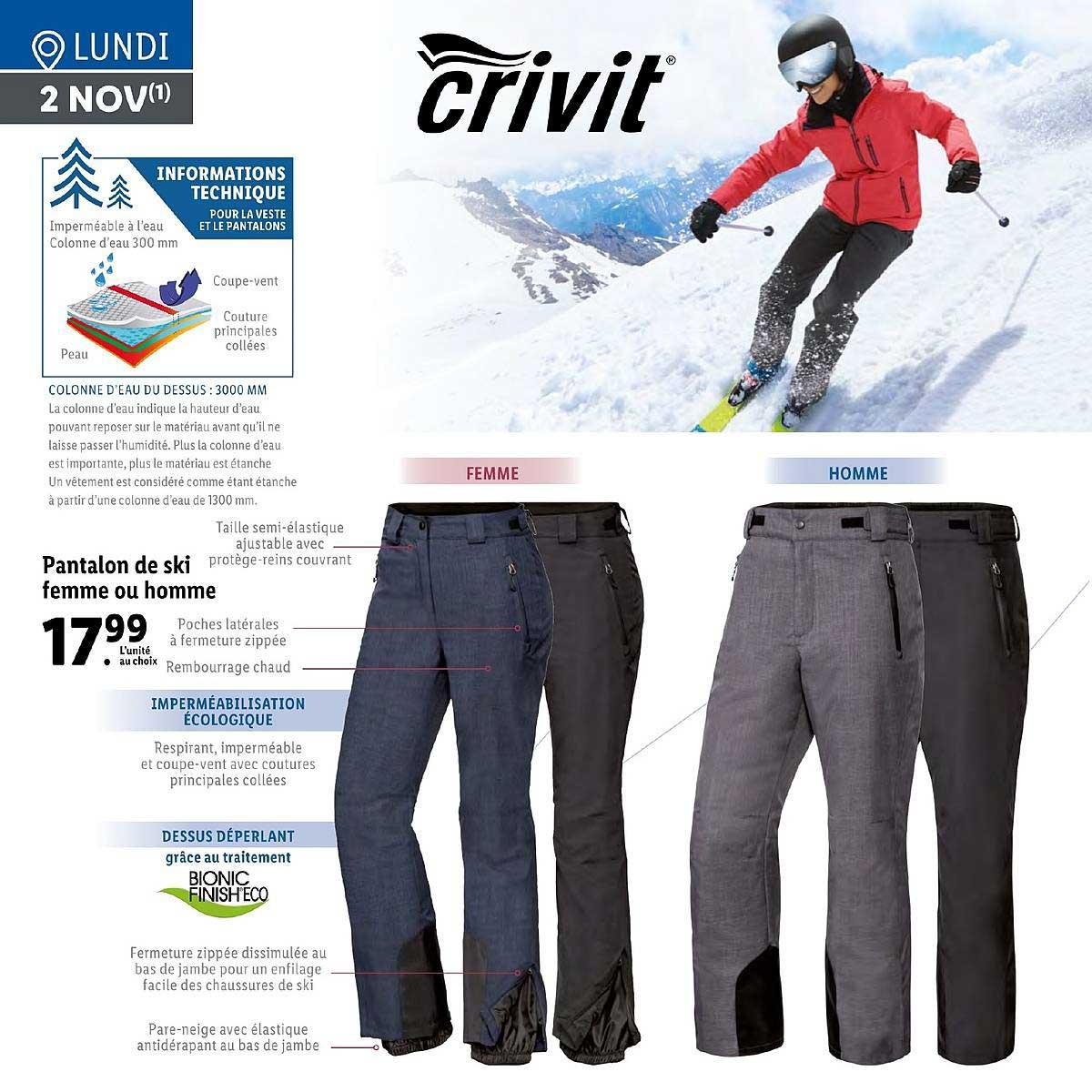 Lidl Pantalon De Ski Femme Ou Homme