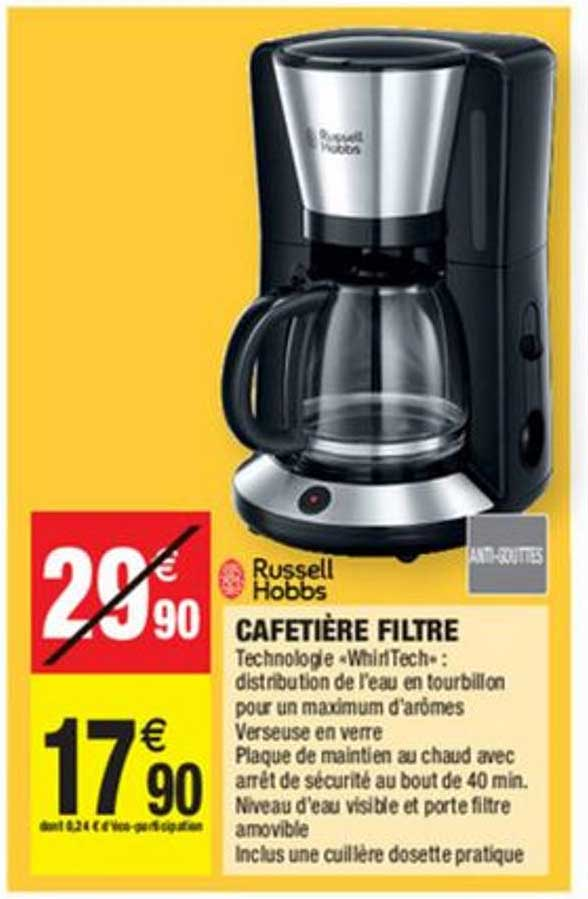 Offre Russell Hobbs Cafetiere Filtre Chez Carrefour Market