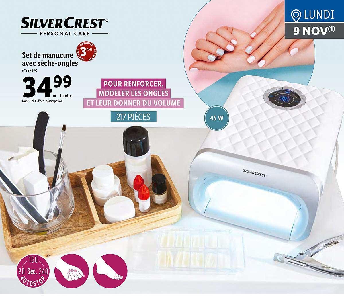 Lidl Set De Manucure Avec Sèche-ongles