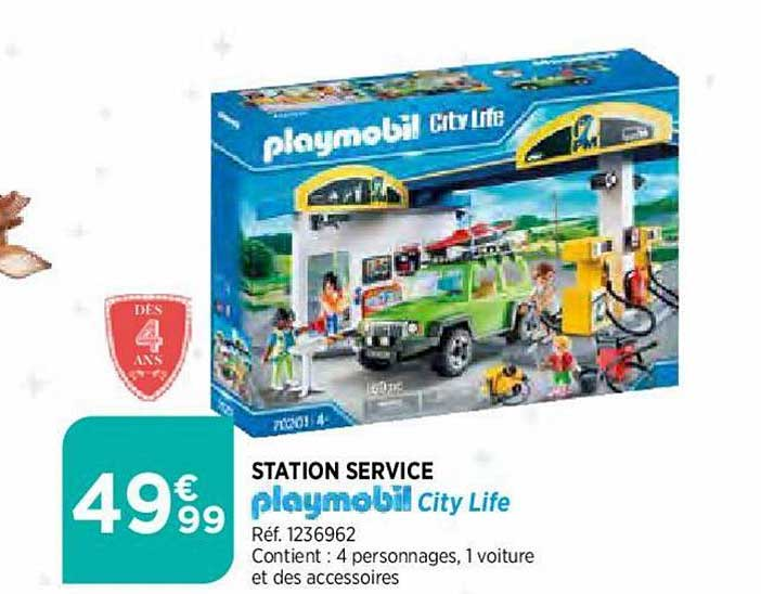 Offre Station Service Playmobil City Life Chez Atac