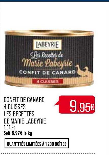 Match Confit De Canard 4 Cuisses Les Recettes De Marie Labeyrie